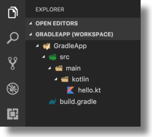 Kotlin/Native - VSC Explorer-view for Gradle app