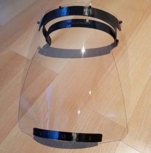 3D-gedrucktes Schutzvisier